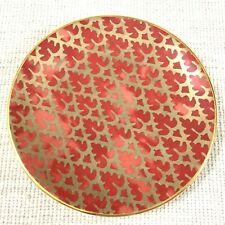 L'Objet Canape Dessert Plate Fortuny Ashanti Red Gold Venice Italy Italian
