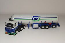 ( TEKNO DAF 95 TRUCK WITH TRAILER TANK TANKER BK AUTOGAS NEAR MINT CONDITION