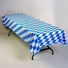 "4 ROLLS! OKTOBERFEST BLUE DIAMOND 150 ft X 40"" BANQUET TABLE COVER TABLECLOTH"