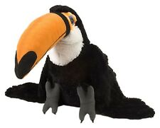 BNWT - WILD REPUBLIC TOUCAN RAIN FOREST BIRD BLACK SOFT PLUSH TOY 12inch/30cm