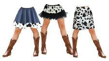 Wild West Jessie Cowgirl Denim Cow Print Old Western Fancy Dress Skirt or Tutu
