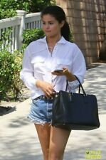 NWT Equipment Knox Silk Lace Up Shirt White Size XS, S As Seen On Selena Gomez