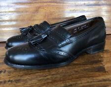 """Vintage Men's Allen Edmonds """"Bridgeton"""" Dress Loafers Black Size 7.5 D"""