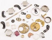 Lot of Vintage Watch Clock Parts