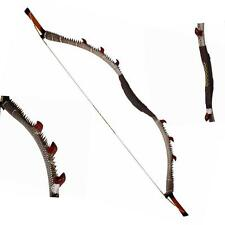 """Traditional 40lbs 57"""" Snakeskin Leather Recurve Bow Longbow Archery Hunting Bow"""