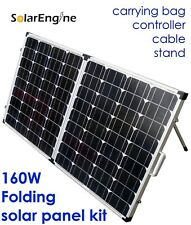 160W 160 Watt Watts 12V Solar Panel Monocrystalline Foldable folding