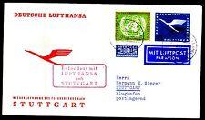 """Erstflug FFC LH  """"Frankfurt - Stuttgart"""" 31.10.1955 !! HS 52  -selten-"""