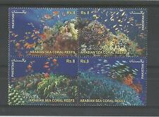 PAKISTAN 2012 SEA CORAL REEFS SG,1464-1467 UN/MM NH LOT 1934A