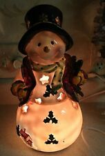 "Snowman Christmas Holiday Winter Home Decor Accent Night Light 12"" Tall"