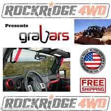 Jeep Wrangler JK & JKU 07-15 Front GraBars HARD MOUNT SOLID STEEL W/ Red Grips