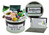 DAD BIRTHDAY SURVIVAL KIT IN A CAN. Father-Daddy-Step Dad Novelty Fun Gift Card