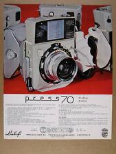1968 Linhof Technika Press 70 Camera color photo vintage print Ad