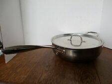 Williams Sonoma 5 QUART Pan with Lid THERMO CLAD Essentials HESTALL Italy