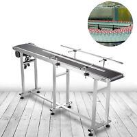 Belt Conveyor PVC Conveyor Belt 71 x 7.8-Inch, Motorized Conveyor, w/ Guardrails