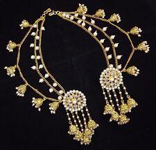 Indian Women Bridal Earrings 18K GP Devsena Latest Jhumki Copper Bahubali 2pc