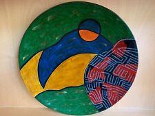 Wooden decorative plate handmade in Vietnam
