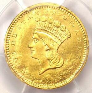 1858-S Indian Gold Dollar (G$1 Coin) - PCGS Uncirculated Detail (UNC MS, Damage)