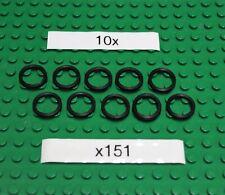 Gummiringe für LEGO Technik ( x151) Rubber Band Medium  (2X2)-Schwarz - 10 Stück