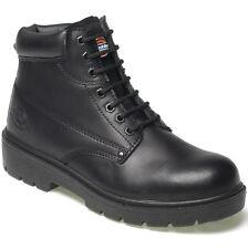 MENS DICKIES ANTRIM SAFETY WORK BOOTS BLACK SIZE UK 8 EU 42 FA23333
