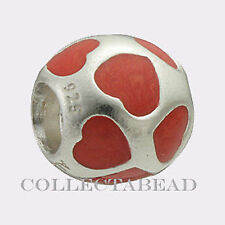 Authentic Pandora Sterling Silver Enamel Red Love You Bead  790543EN17