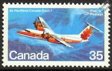 de Havilland Canada DHC-7 DASH 7 Turboprop Airliner Aircraft Mint Canada Stamp
