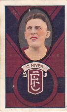 Fitzroy Football Club C Niven on 1933 Allen's Irish Moss gum jubes card