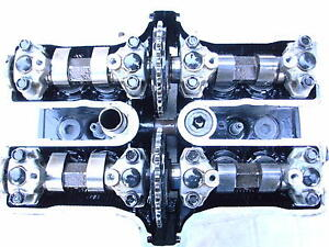 yamaha vmax v-max vmx1200 rear head with cams camshaft & valves no damage box 72