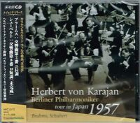 Brahms Schubert Karajan Berliner Philharmoniker tour in Japan 1957 CD w/OBI NEW