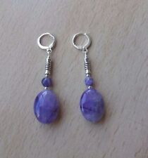 Leverback Amethyst Not Enhanced Fine Earrings