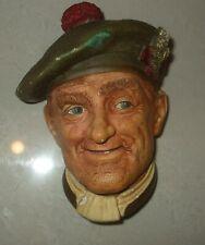 "Bossons Chalkware Head ""Jock"" Bossons England"