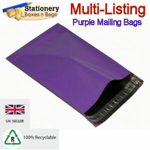 STRONG PURPLE MAILING BAGS - Postage Mailers Plastic Post Polythene *RECYCLABLE*