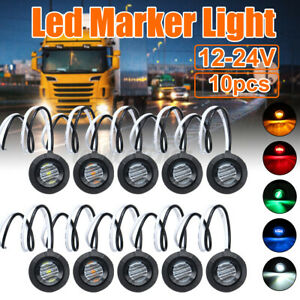 12/24V 3LED Clearance Side Marker Indicators Lights Lamp Lorry Truck Trailer