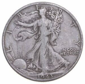 1943-D Walking Liberty 90% Silver US Half Dollar *753