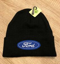 FORD Logo Beanie Toboggan Embroidered Patch Style Winter Cap Racing Truck Black