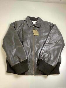 Women's NWT J.Crew Dark Brown Leather Jacket Size M