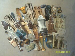 (5*4C)vintage EPHEMERA paper CRAFTING lot-cut-out EGYPT scrapbooking ART collage