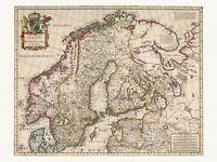 1682 Old Antique Decorative Map of Turkey Ottoman Empire de Wit ca
