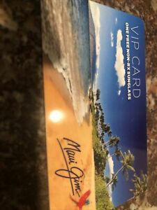 Maui Jim Sunglasses VIP Card