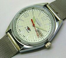 citizen automatic big face men's steel 17 jewels white dial vintage japan watch