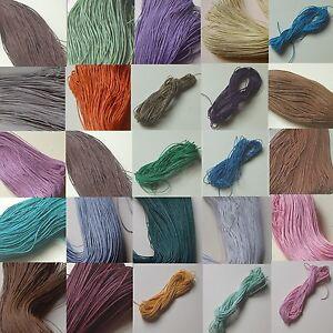 68-74m Baumwollband 1mm gewachst Wachsband Baumwollfaden cottonwax cord 0,045€/m