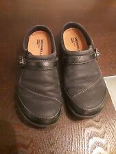 Merrell Dassie Buckle Women US 6.5 Black Suede Loafer Slides Mules