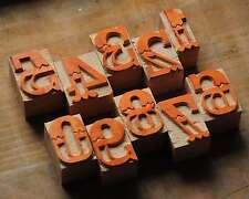 0-9 Zahlen Holzzahlen 34mm Holzlettern Drucken Letter Ziffern Stempel Vintage x
