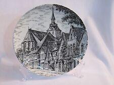 Luneburg Germany Souvenir Plate Joh.Bottger Hang on Wall Prior Salt Mining Town