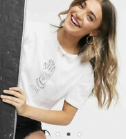 Wednesday's Girl T Shirt Top Tee Size 8 12 & 22 White Love Graphic Relaxed NEW