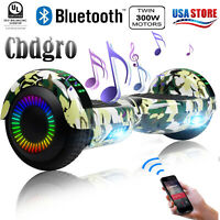 """Bluetooth Hoverboard 6.5"""" UL2272 Flash LED Self Balancing Scooter Bag Camouflage"""