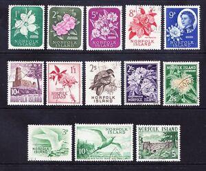 NORFOLK ISLAND Queen Elizabeth II 1960 SG24/36 set of 13 - fine used. Cat £38