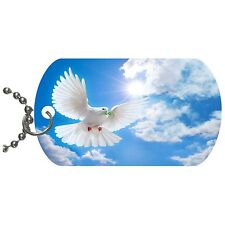 Dove Of Peace Dog Tag Necklace Chain