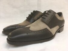 Goodwin Smith Men's Leather Brown Stone Lace up Brogue Shoes. UK 7.