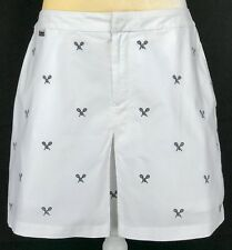 Ralph Lauren Active Woman Skort 12 Skirt Shorts Stretch Cotton Tennis White