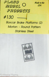 Plano Model Products HO #130 Boxcar Brake Platforms (2) Morton - Round Pattern